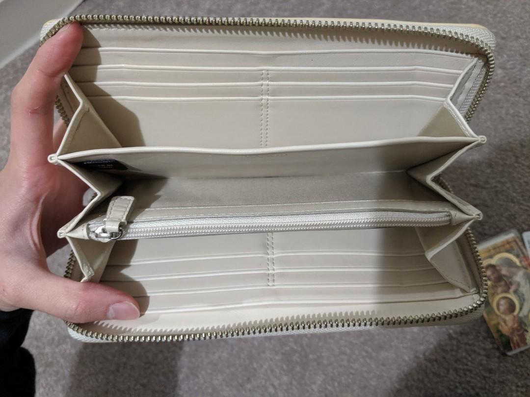 Coach cream patent leather wallet genuine