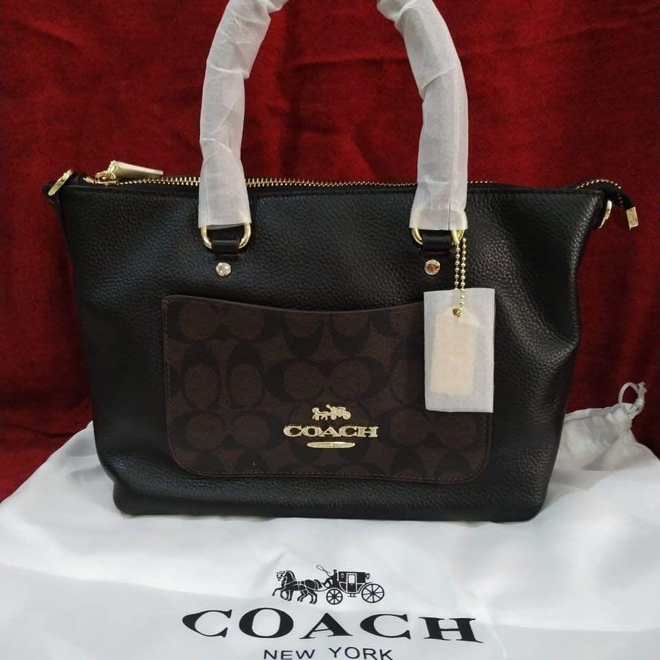 Coach Totebag Authentic bahan kulit asli with serial number New & Complete sett