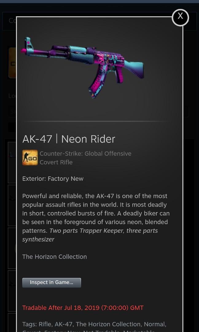 Csgo Skin AK-47 Neon Rider FN, Toys & Games, Video Gaming