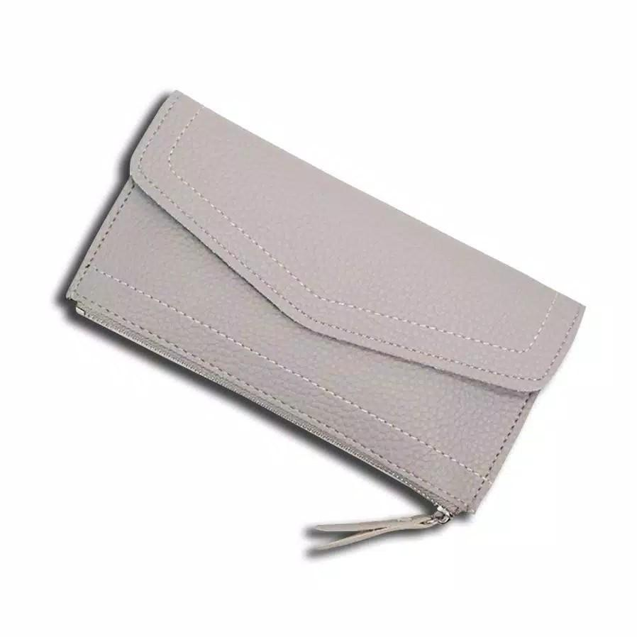 Dompet KULIT JERUK 001 Wanita Panjang IMPOR Korea Fashion Long Business Wallet