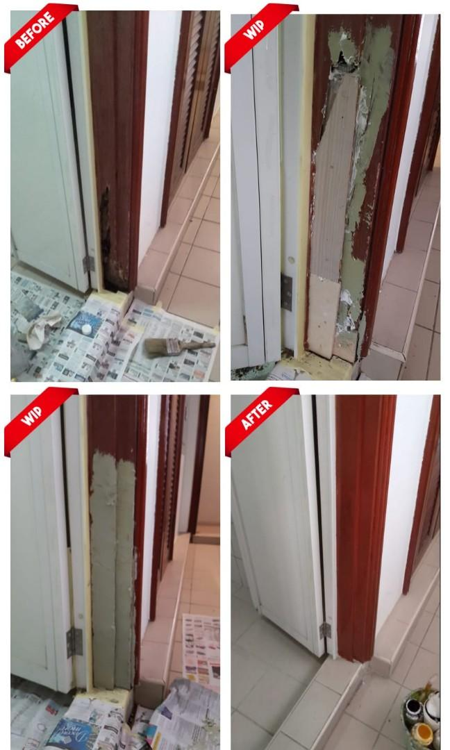 Door Frame N Parquet Repair Services Home Services Home Repairs On Carousell