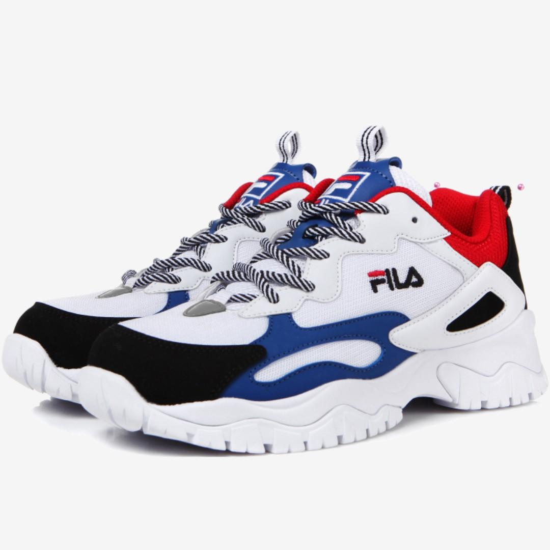 Fila ray tracer tr shoes red blue black