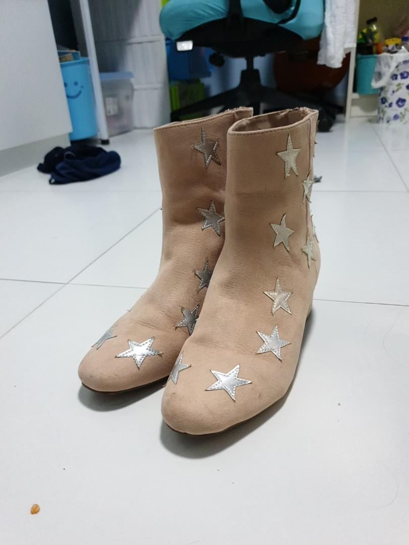 Forever 21 Star Beige boots