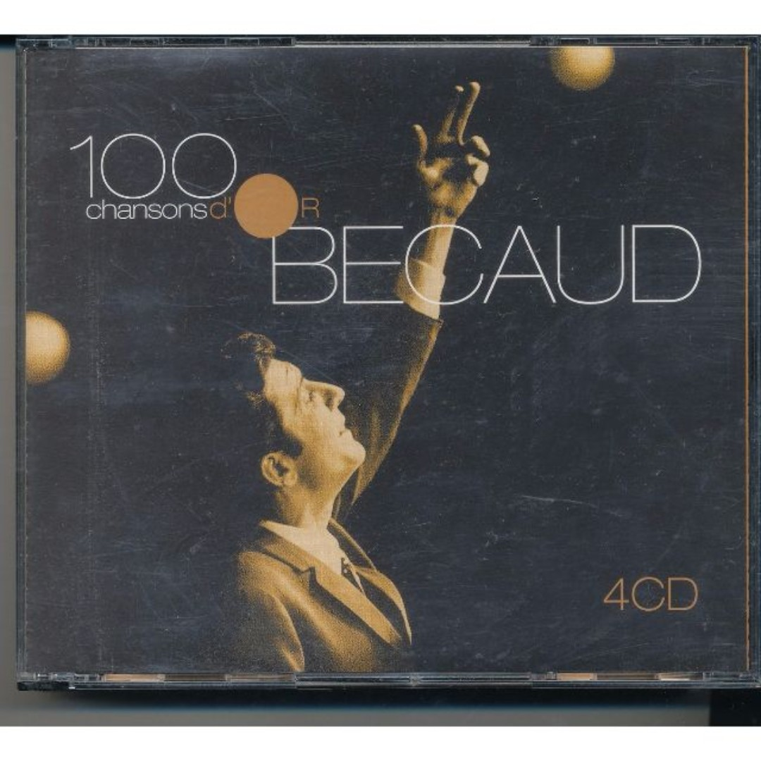 Gilbert Becaud - 100 Chansons D'Or (4 CD Set) French Vocalist [x9*]