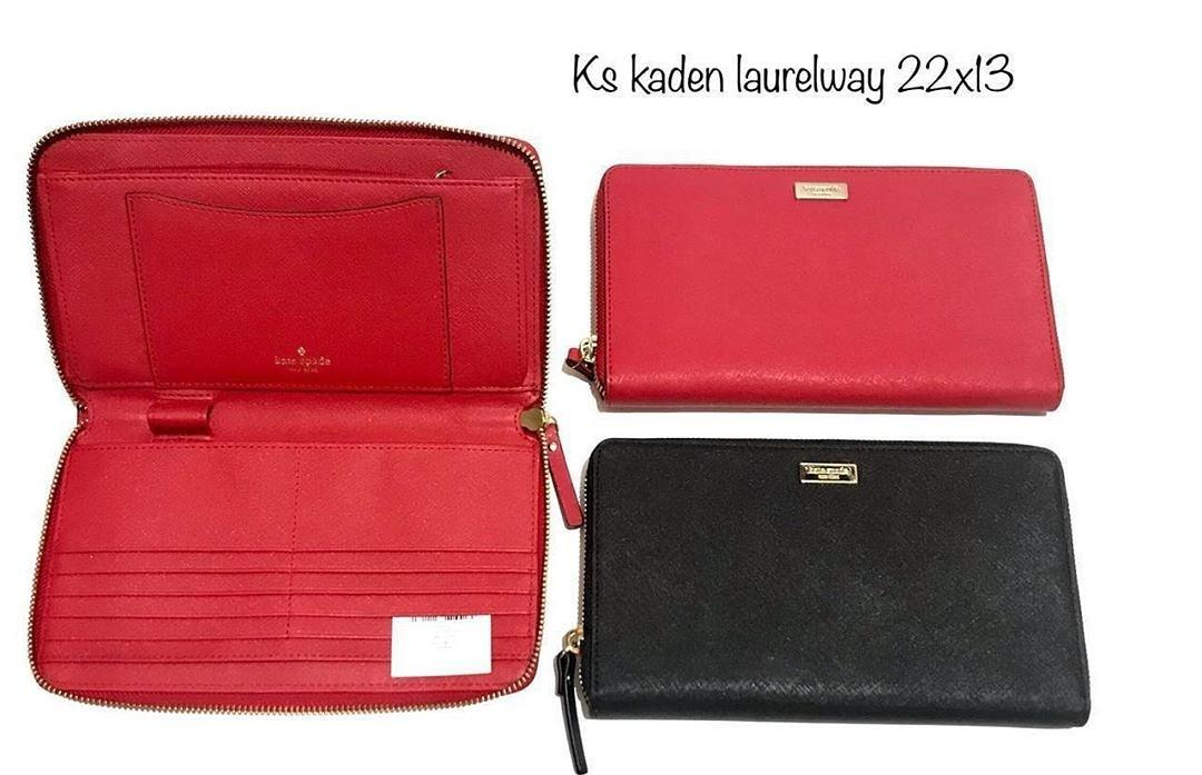 KS Kaden laurelway travel wallet large sz 22x13 hotchilli and black
