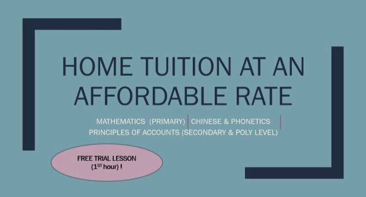 1 to 1 affordable home tuition