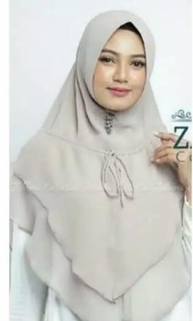 New Khimar Syari 2 Layer Pet Antem by Elfida Hijab Mint