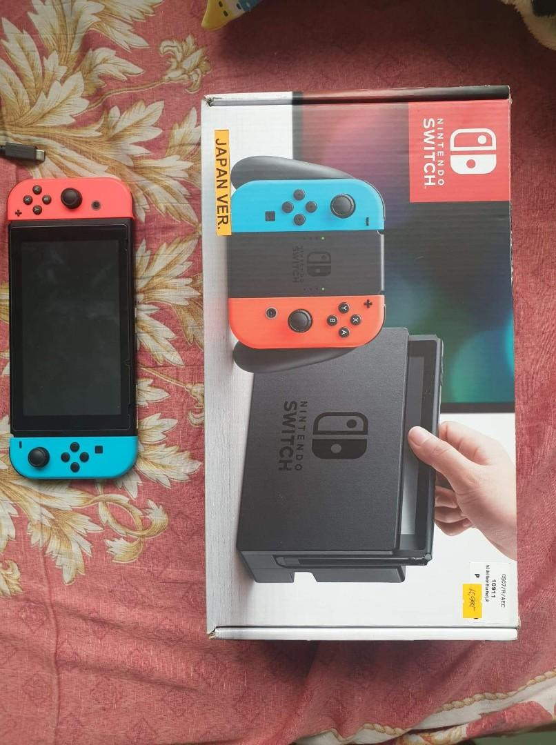 Nintendo Switch JAP Patched Ver  w/Freebies and 64gb SD 100mbps on