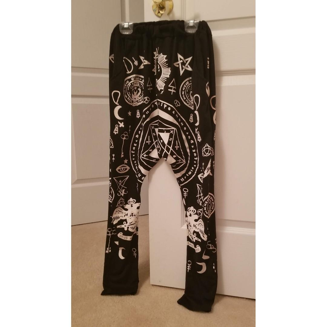 Occult Pattern Harem Pants