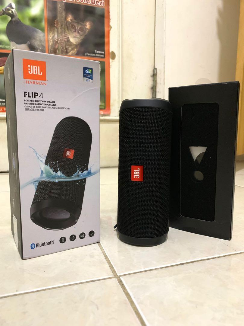 Original JBL Flip 4 Portable Bluetooth Speaker display bundling Samsung note 9