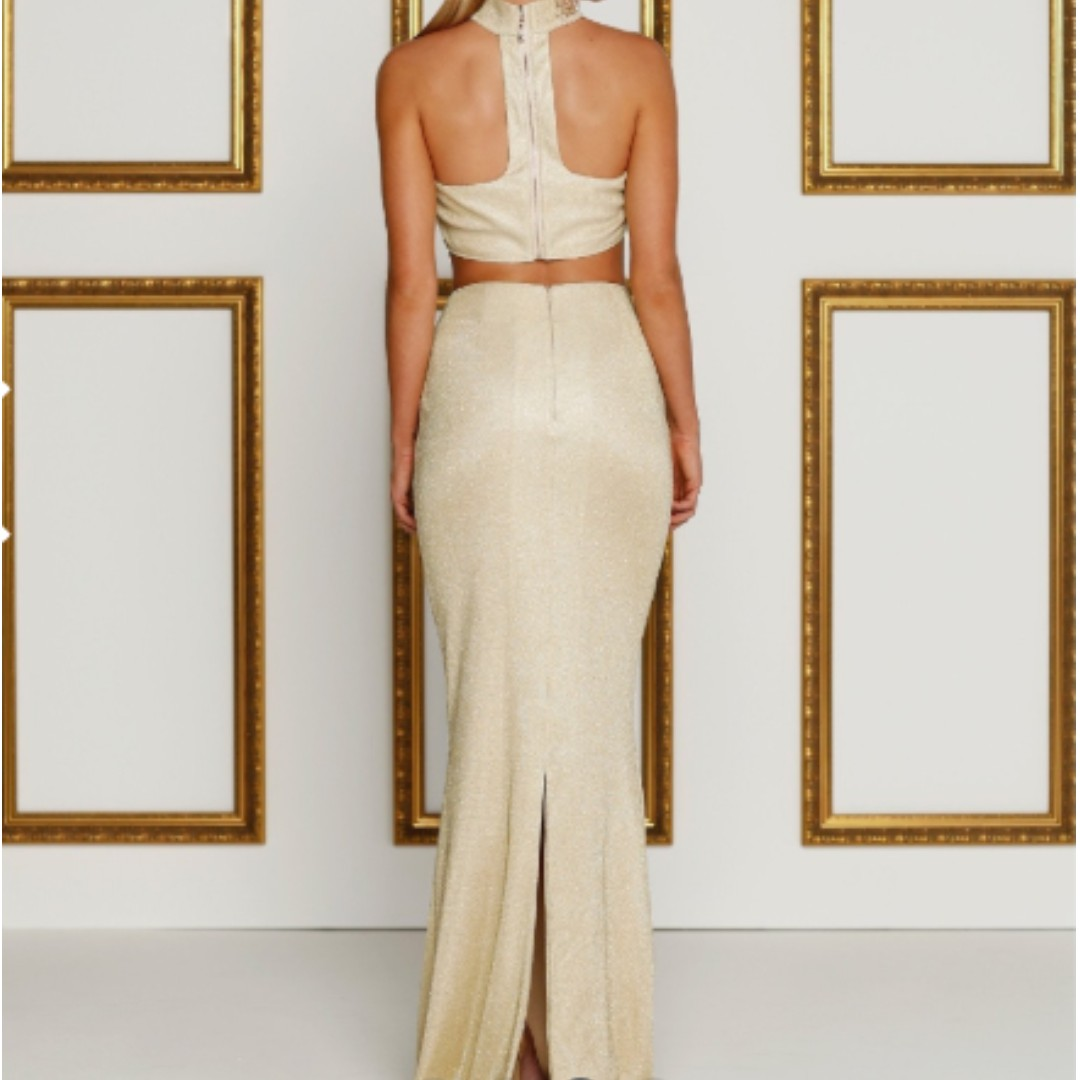 SELLING/RENTING A&N Luxe Label Gold Yardena Dress Set