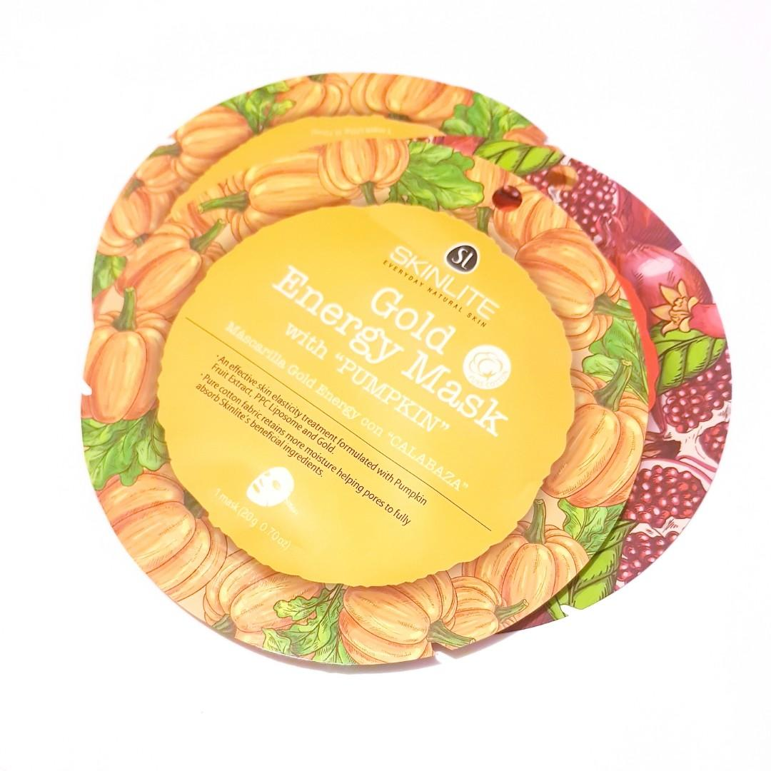 SkinLite Everyday Natural Skin Gold Energy Mask with Pumpkin Facial Sheet Face Mask