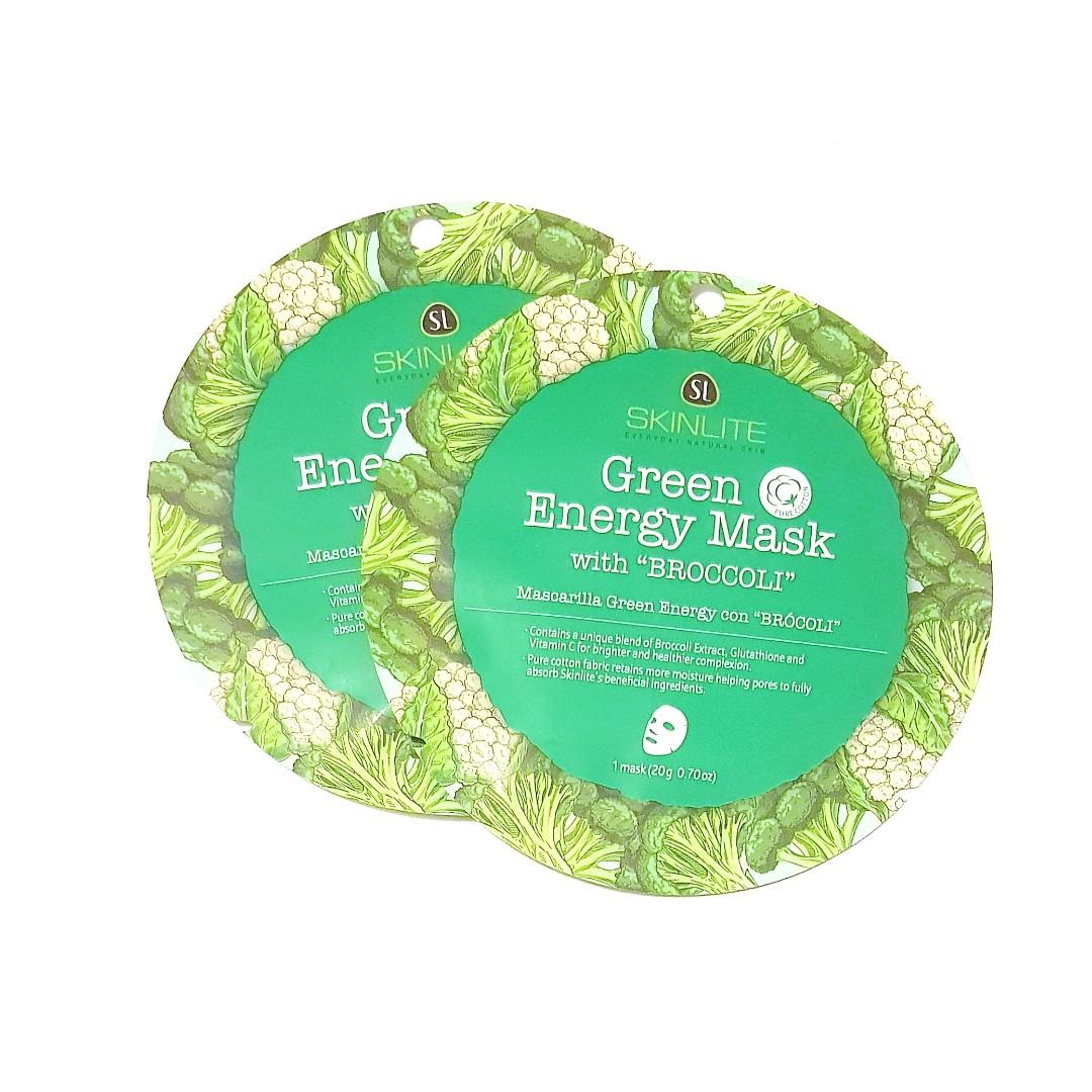 SkinLite Everyday Natural Skin Green Energy Mask with Broccoli Facial Sheet Face Mask