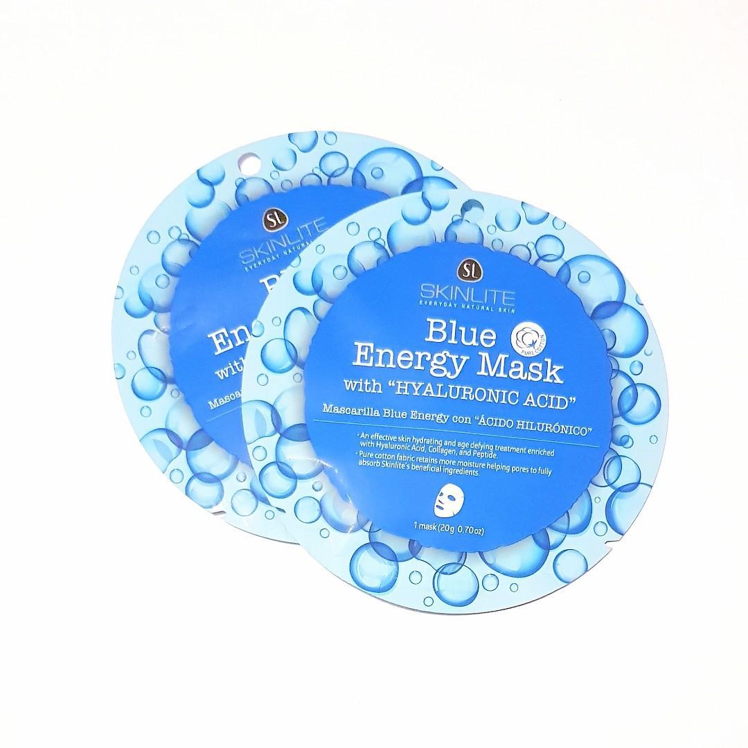 SkinLite Everyday Natural Skinlite Blue Energy Mask with Hyaluronic Acid Facial Sheet Face Mask