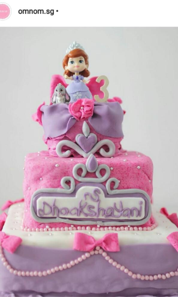 Awe Inspiring Sofia The First Birthday Cake Food Drinks Baked Goods On Carousell Funny Birthday Cards Online Fluifree Goldxyz