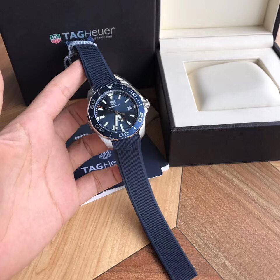 TAG Heuer's competitive diving quartz watch!  ~41mm diameter, sapphire glass, super luminous pointer, original tag heuer quartz movement, support disassemble inspection, ultra-difficult steel drawing process can not be copied, one serial number