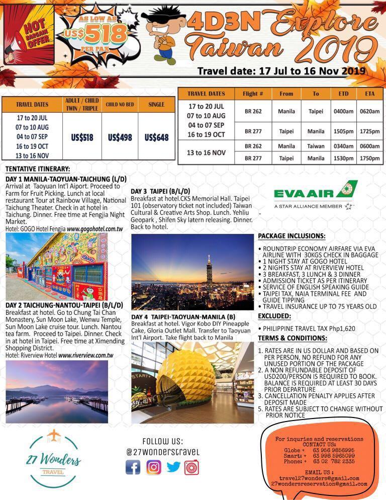 Taiwan, Japan and Korea Package Tour on Carousell