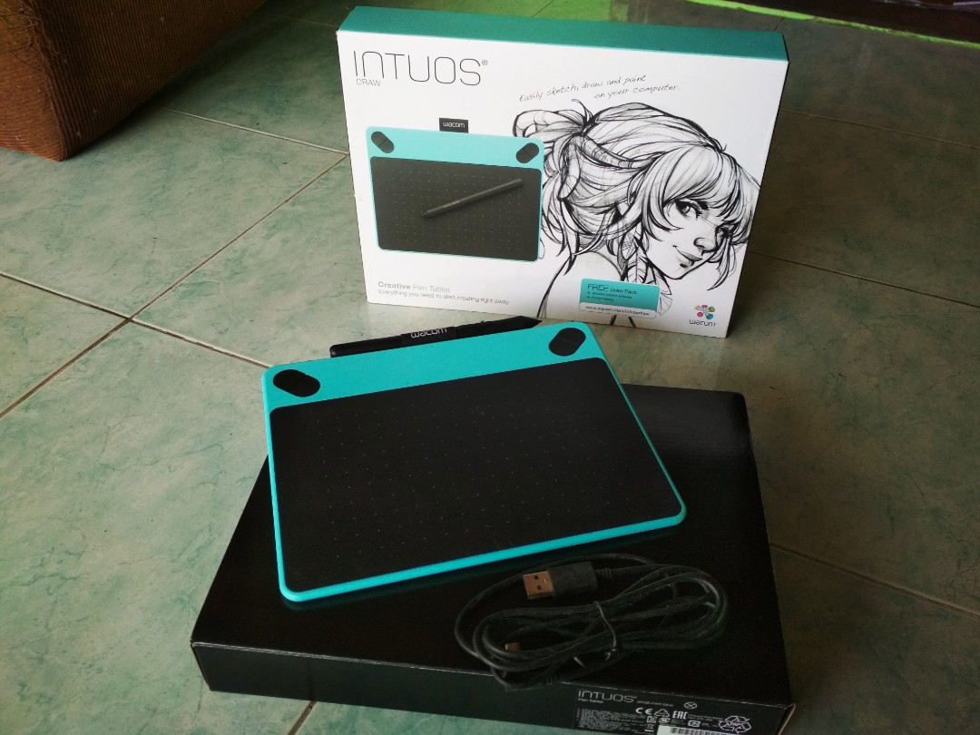 Wacom Intuos Draw Pen Blue Digital Graphic Tablet CTL-490 PC/MAC/WINDOWS