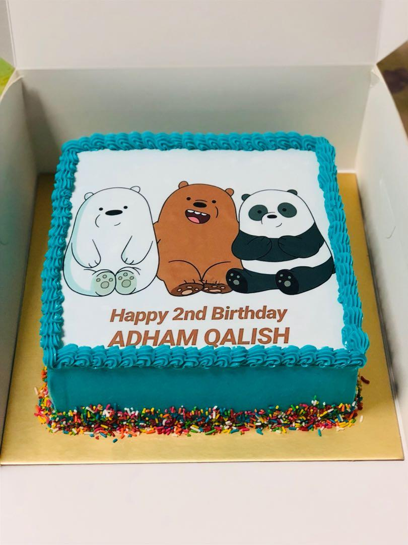 Astounding We Bare Bears Birthday Cakes Food Drinks Baked Goods On Carousell Funny Birthday Cards Online Aeocydamsfinfo