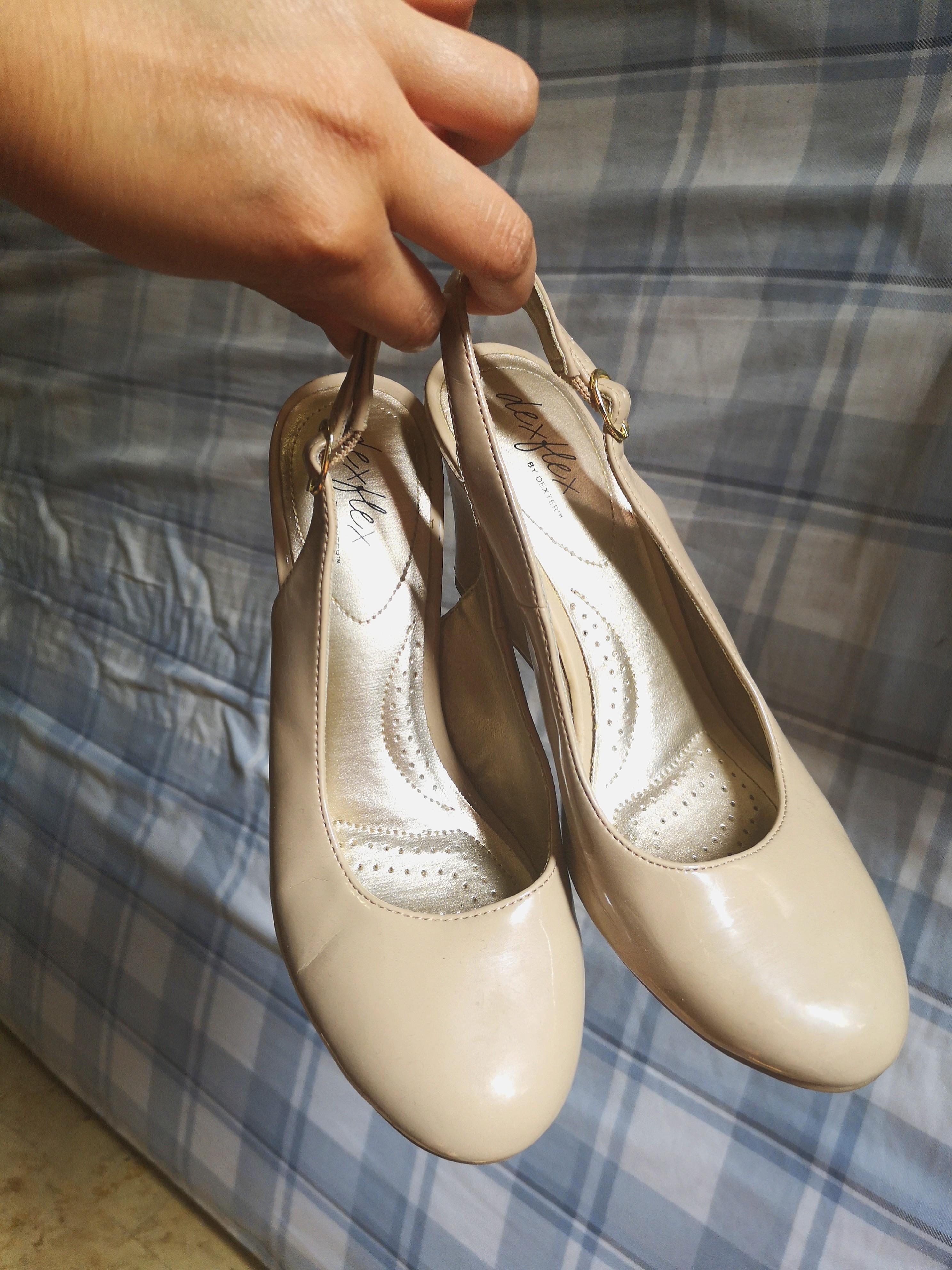 Wedge heels size 6.5 beige