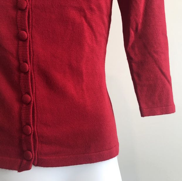 Wheels & Dollbaby Brand New Red Classic Cardigan, Size 8