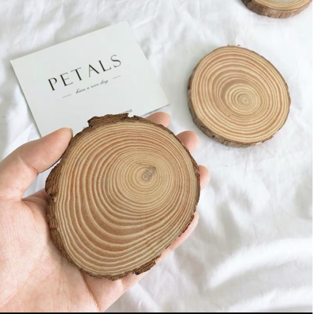 Wood Log Slices Discs For Diy Crafts Wedding Centerpieces Design Craft Others On Carousell