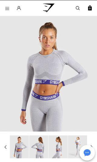 GYMSHARK Flex Long Sleeve Top