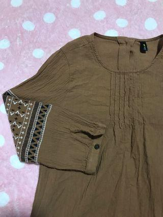 🚚 brown blouse top