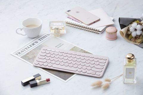 🚚 羅技K380「珍珠粉」藍牙鍵盤