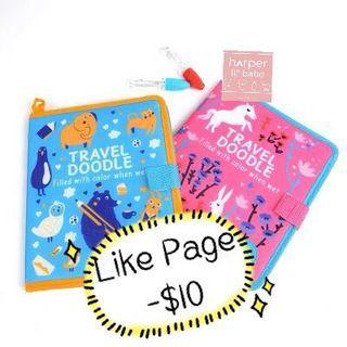 ‼️Like Page減$10‼️ Mideer 神奇 環保 水寫 學習 水畫布 旅行 便攜 裝 英文字母 數子 時間