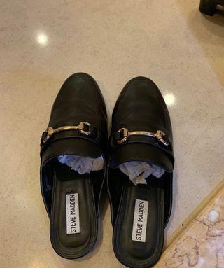 Steve Madden KANDI BLACK LEATHER shoes black colour in size 9 #thankyoubutno