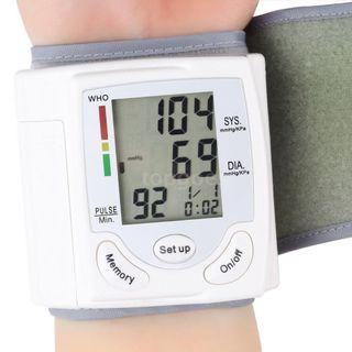 Automatic Wrist Type Digital Electronic Blood Pressure Meter Heart Beat Rate