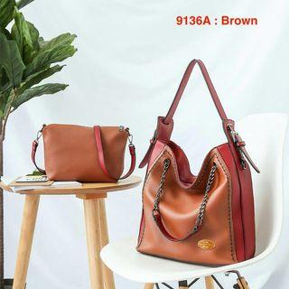 Ready Stock High Grade Quality Coach Set 2 in 1 Bag