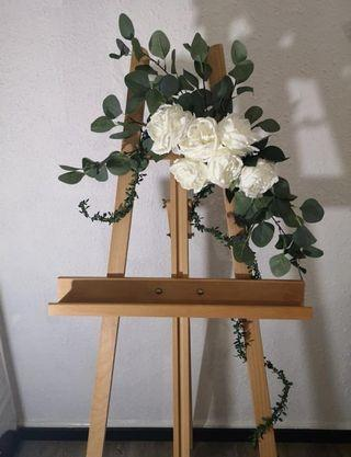 Easel Stand rental with Flower Decor