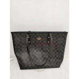 COACH Original Zip Tote Signature Bag Black