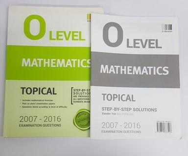 O Level Maths TYS (Topical) (2007 - 2016)