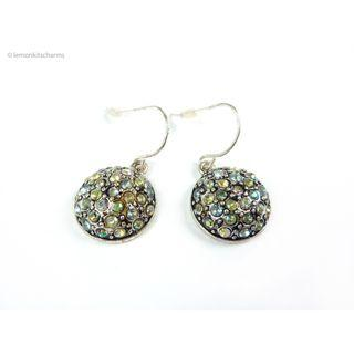 Avon AB Rhinestone Silvertone Earrings, er1812-c
