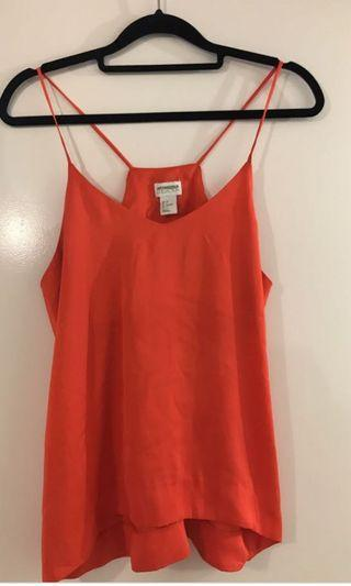 H&M conscious red top