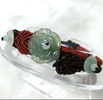 🚚 💎天然緬甸玉a貨🔮冰種花型手鍊