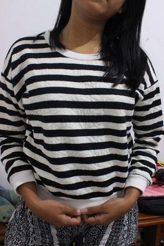 Stripe sweater magnolia