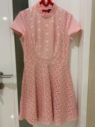 Mididress pink cheongsam