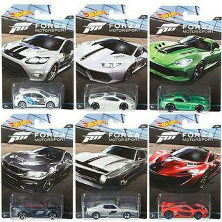 Hot Wheel Forza Set of 6
