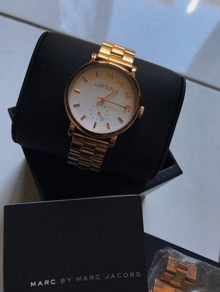 Marc Jacobs Rose Gold Watch (authentic)
