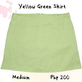Yellow Green Skirt
