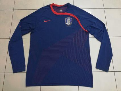South Korea player issue training jersey