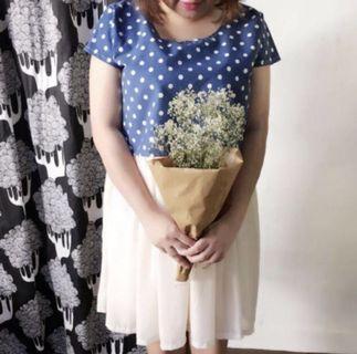 Polka Dot Chiffon Dress Plus Size