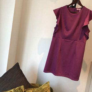 Fuchsia Dress OL Plus Size