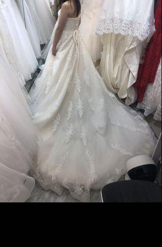 大拖尾婚紗  本人全身訂造 超新 s-m size