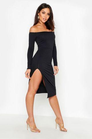 Boohoo Split Dress