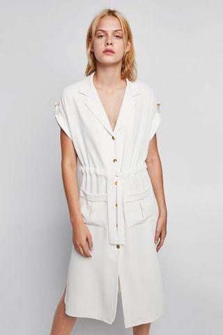 Zara white shirt dress - loose fit